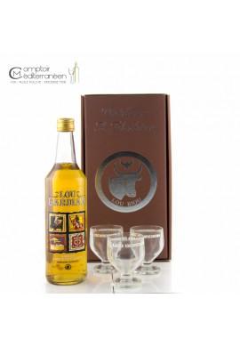 Lou Gardian Apéritif à base de Vin et de Pêche 75 cl + 2 verres