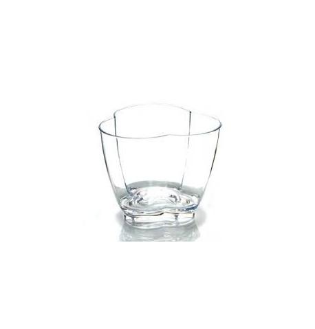 Vasque trefle plexi translucide