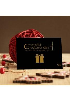 Carte Cadeau Comptoir Méditerranéen 50 euros